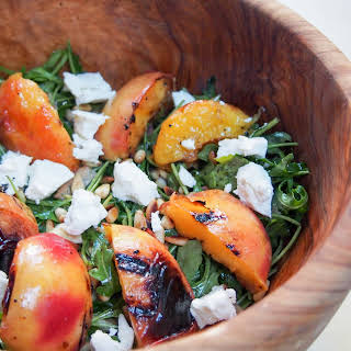 Grilled Nectarine And Arugula Salad.
