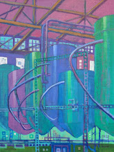 """Photo: """"Faction Brewing"""", acrylic on canvas © Nancy Roberts"""