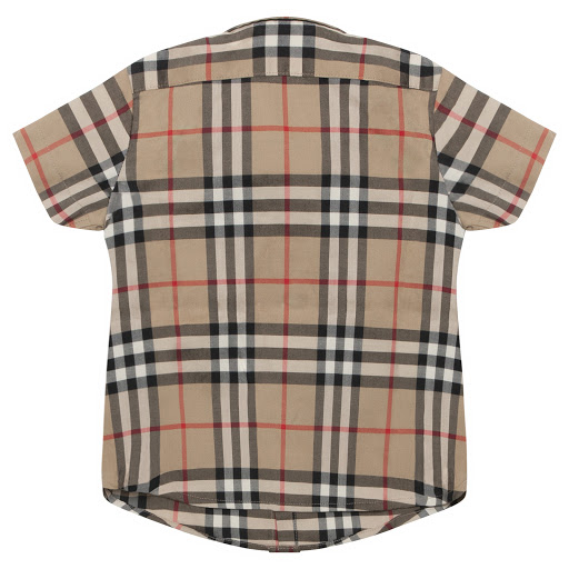 Thumbnail images of Burberry Baby Beige Checked Shirt