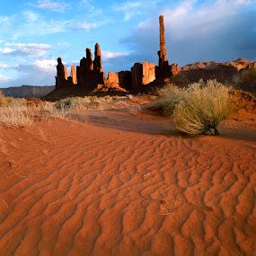 Totem Rock by Ron Harper - Landscapes Deserts