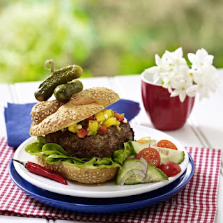 Carribean Burgers with Mango Salsa