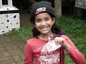 Photo: Malvika is thrilled she has her own id card with her picture! Nice touch by the T-team!