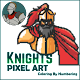 Pixel Art-Knight-Coloring By Numbering APK