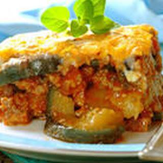 Moussaka mit Zucchini und Kalbfeisch.