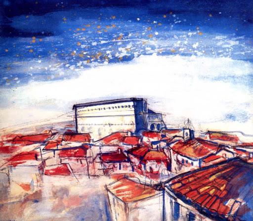 Affiche des Chorégies créée par Benjamin Orcajada, artiste peintre en Provence