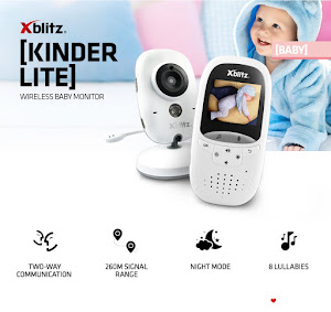 Baby Monitor XBlitz Kinder Lite, Wireless, 2.4 GHz, ecran 2 inch, night mode