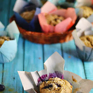 Blueberry Green Tea Muffins (Vegan)