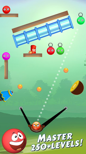 Bounce Ball Shooter - Slingshot The Red Ball 1.0 screenshots 1
