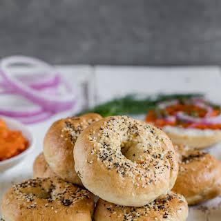 Fluffy New York-Style Bagels w/ Vegan Carrot Lox {vegan, oil-free}.