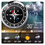 World Clock Weather Widget & Compass