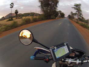 Photo: The main roads in Cambodia were in surprisingly good condition, but a bit too straight and too flat for my taste.