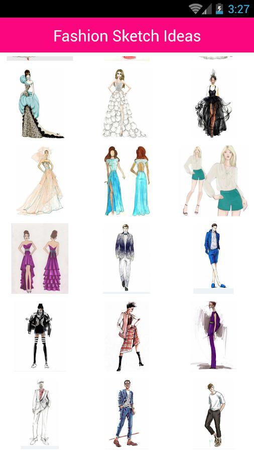 fashion design sketch ideas screenshot - Fashion Design Ideas