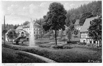 Photo: Wünschendorf im Erzgebirge Sachsen  - Hammermühle Neunzehnhain - Alte Postkarte um 1930