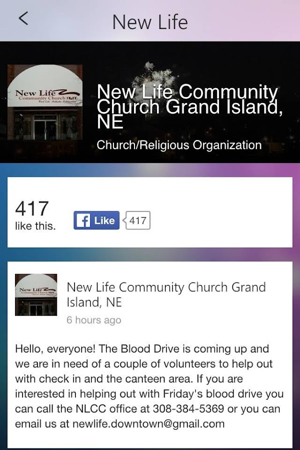 New Life Church GI- screenshot