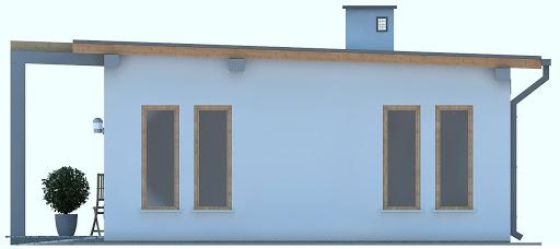 G182 - Budynek rekreacyjny - Elewacja boczna