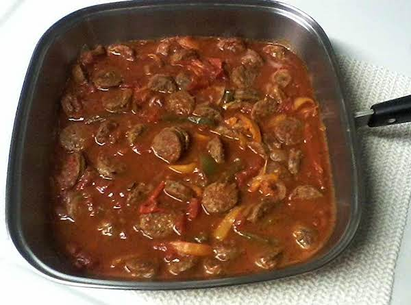 Sweet Italian Sausage W/peppers,onions & Tomatoes Recipe