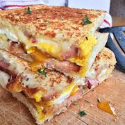 Eggs, Ham & Cheese Sandwich