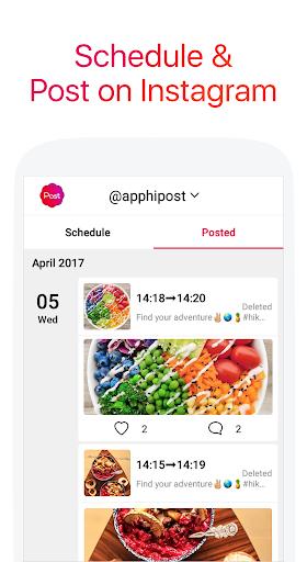 Apphi - Schedule Posts for Instagram 2.4.4 screenshots 1