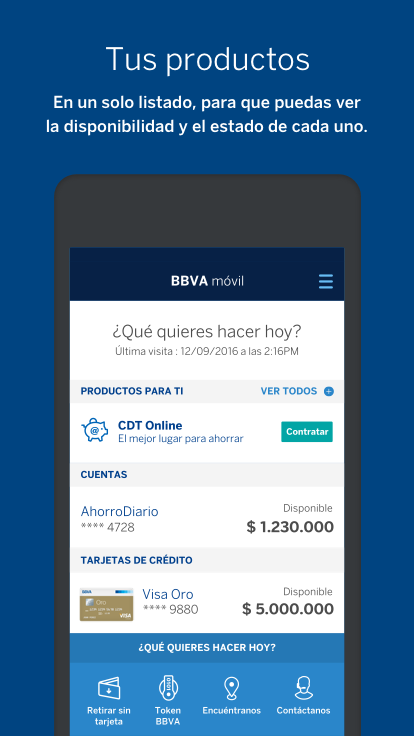 BBVA | Colombia: captura de pantalla