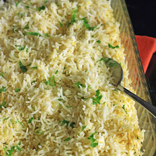 Baked Rice with Lemon and Thyme.