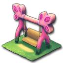 ピンクのウッドブランコ