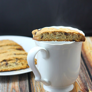 Healthy Chocolate Almond Chip Biscotti