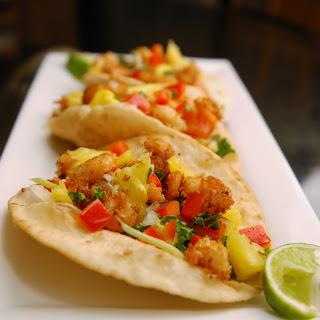Lentil Coconut Shrimp Tacos