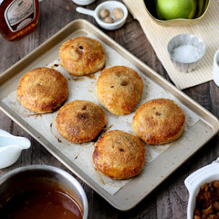 Flaky Apple Dumplings with Salted Maple Caramel