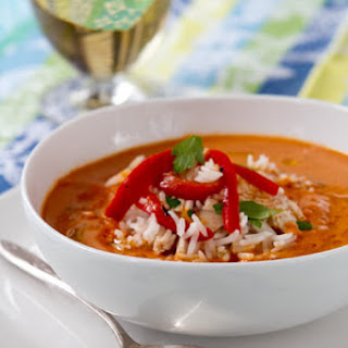 Roasted Pepper and Hummus Soup
