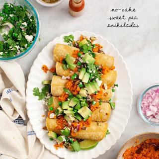 No-Bake Sweet Pea Enchiladas.