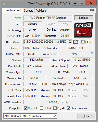 GPU-Z R7 Graphic 4GB