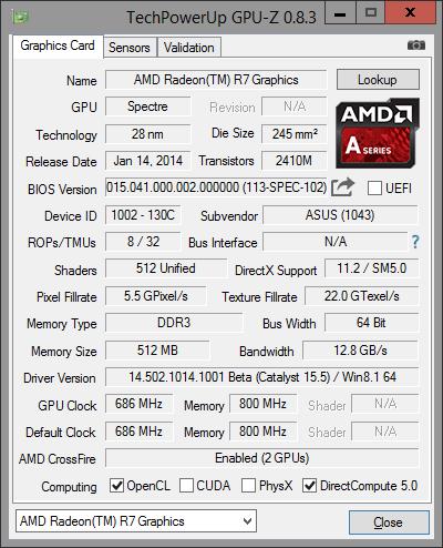 GPU-Z R7 Graphic 4GB