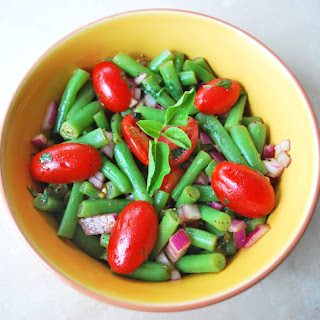 French Bean and Tomato Salad with Vinaigrette