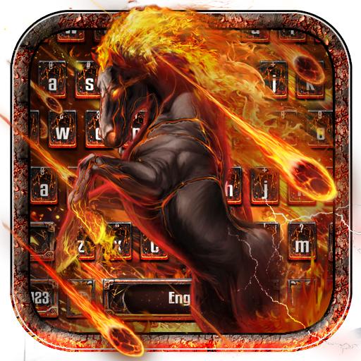 Flame Horse Keyboard Theme