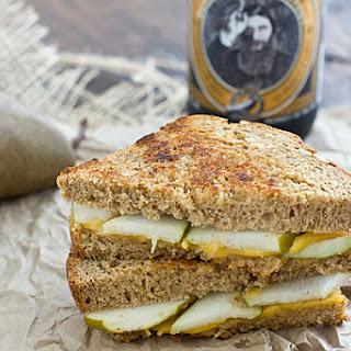 Pear & Sharp Cheddar Grilled Cheese Sandwich.
