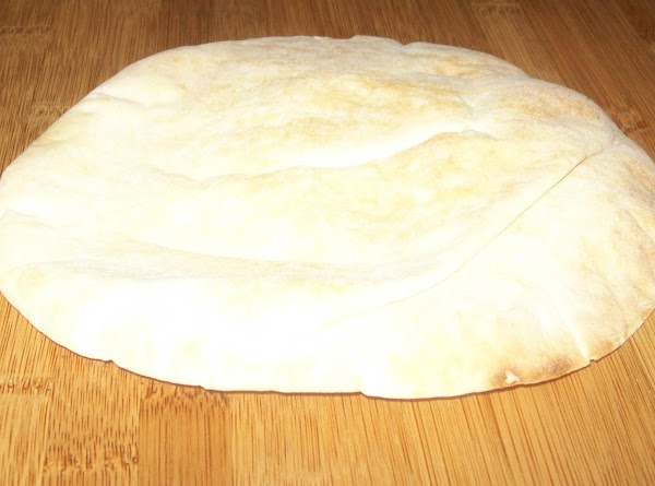 Slice the pita in ½ and put both half's in a medium hot 325...