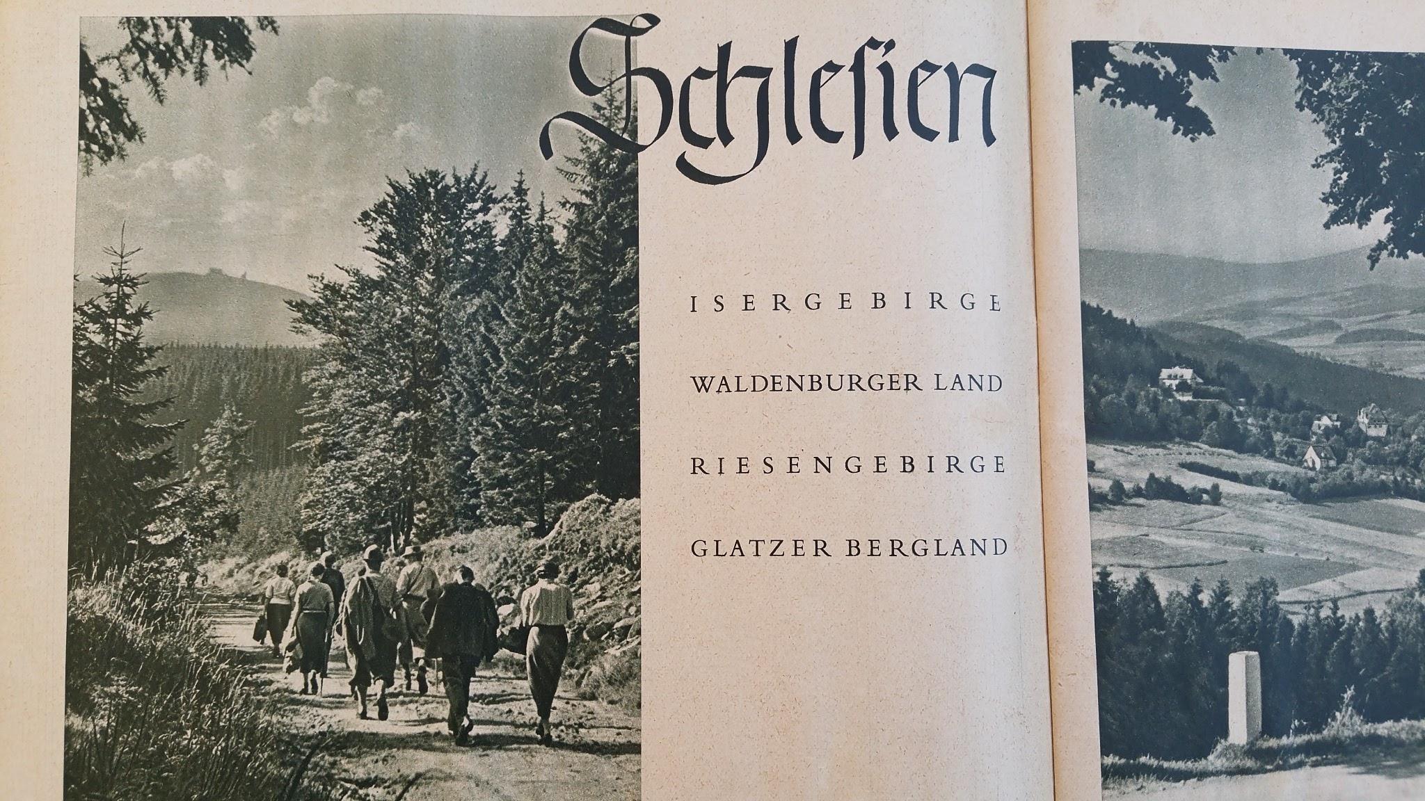 """Die Deutsche Arbeitsfront - Urlaubsfahrten 1939 - NS-Gemeinschaft """"Kraft durch Freude"""" Gau Sachsen - Katalog - Schlesien"""