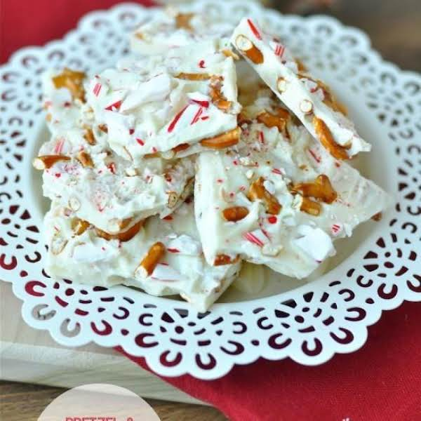 White Chocolate Peppermint-pretzel Bark