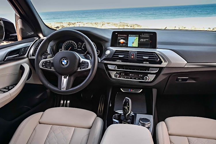 The interior has touches of 5 and 7 Series about it.    Picture: BMW
