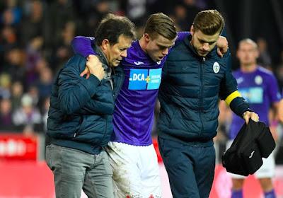 Mauvaise nouvelle pour un ex-espoir d'Anderlecht, lourdement blessé