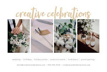 Creative Celebrations - Postcard template