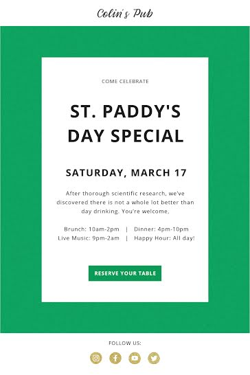 St. Paddy's Day Special - St. Patrick's Day template