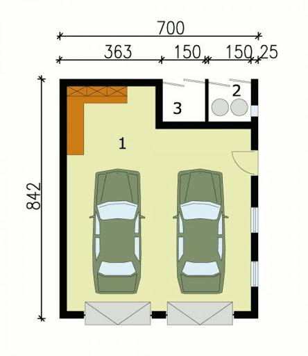 G111 - Rzut garażu