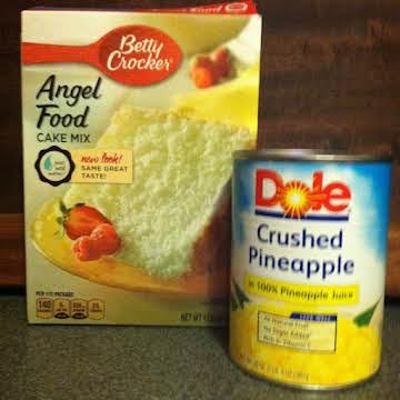 Too Easy Pineapple Angel Food Cake