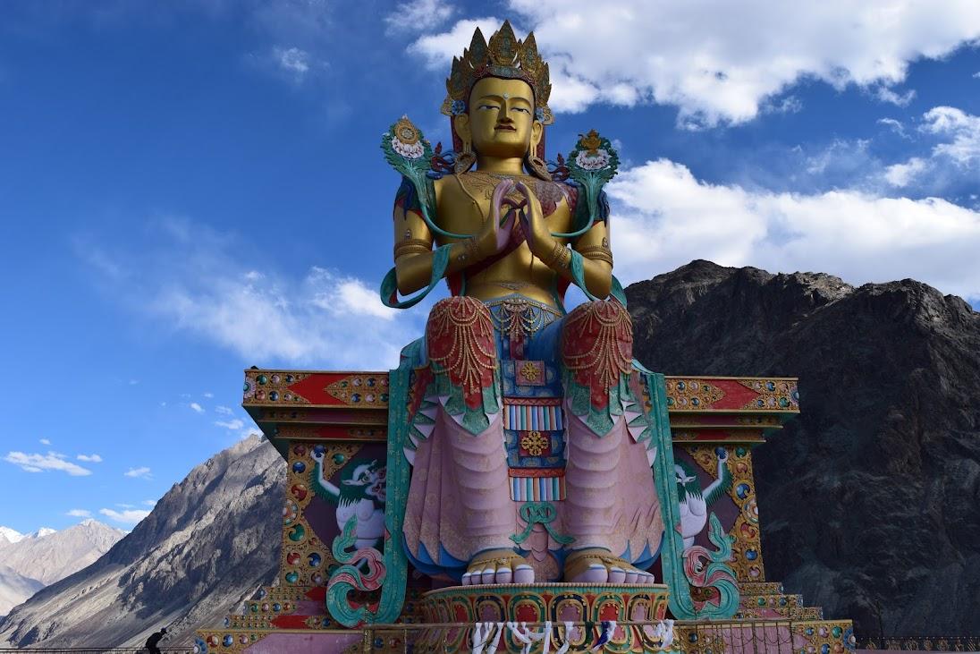 Giant Buddha Statue in Diskit