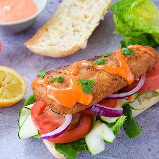 Ultimate Chip Shop Fish Sandwich.