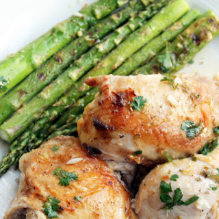 Brick-Roasted Chicken with Lemon Vinaigrette