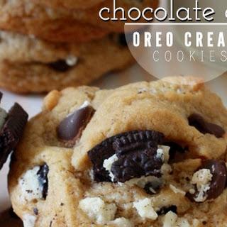 Chocolate Chip Oreo Cream Cookies.