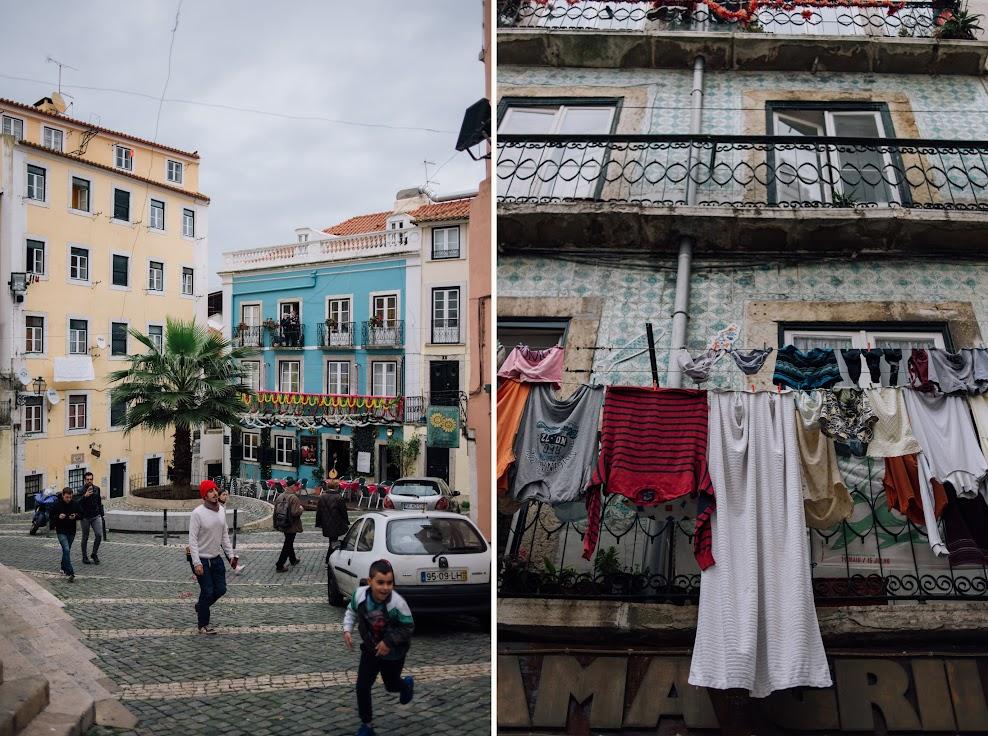 Portugália, Lisszabon, Alfama, teregetés