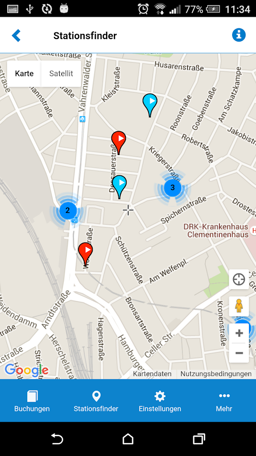 stadtmobil carsharing- screenshot